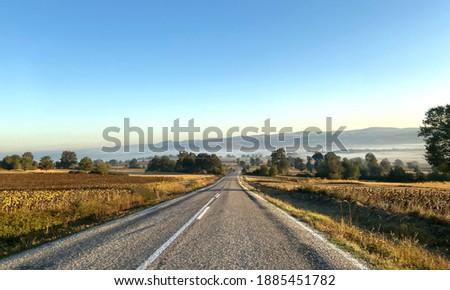 Landscape from Havza a foggy morning Stock fotó ©