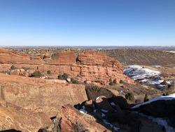 Landscape from the Red Rocks Amphitheater in Colorado