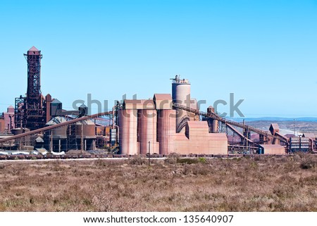 landscape image of saldanha bay steel works south africa
