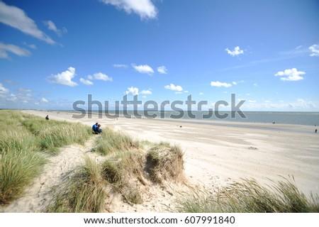 Landscape in Blaavand, Denmark