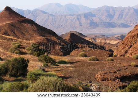 Landscape in Damaraland in northern Namibia