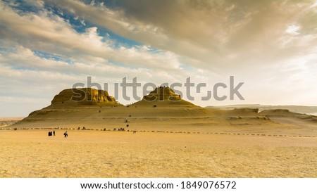 Landscape in Egypt desert - wadi el rayan - El Fayoum mountains