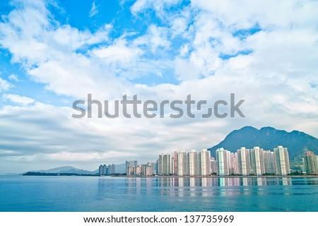 Landscape in Hong Kong (Ma On Shan) Stok fotoğraf ©
