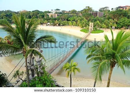landscape in sentosa, Singapore - stock photo