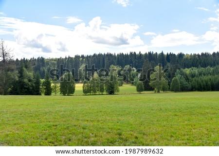 Landscape in Swabian Alb, highlands Germany. Imagine de stoc ©