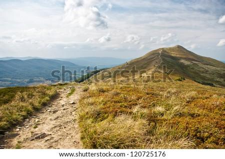 Landscape in the Bieszczady mountains