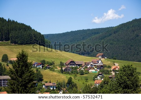 Landscape in the Black-forest, Germany
