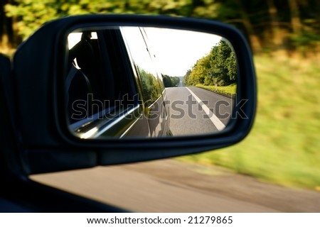 Landscape in the mirror of a car #21279865