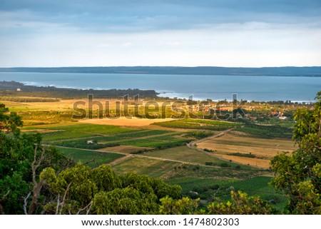 Landscape in the near of the Lake Balaton, Hungary Stock fotó ©