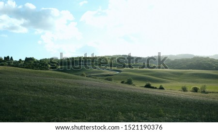 landscape in tuscany tuscan italy hill hills in autumn