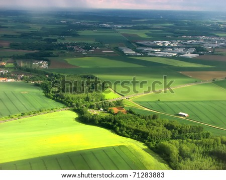 landscape is a kind from an airplane