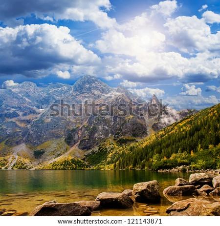 "Landscape. Lake ""Sea Eye"" in the Tatra mountains"