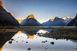 Landscape Milford sound New Zealand