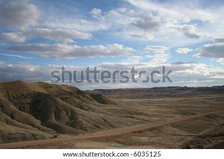 Landscape near Green River Geyser in Utah.