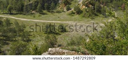 landscape near Koneprusy caves in Beroun region Stock photo ©
