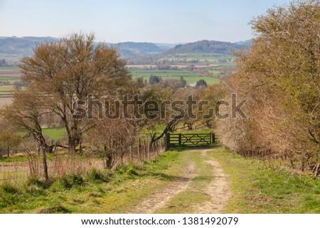 Landscape near Leintwardine, Shropshire, England #1381492079