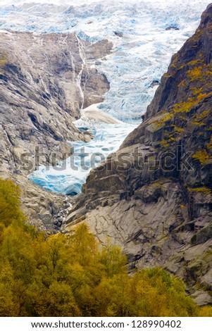 landscape near Melkevollbreen Glacier, Jostedalsbreen National Park, near Brigsdal, Norway