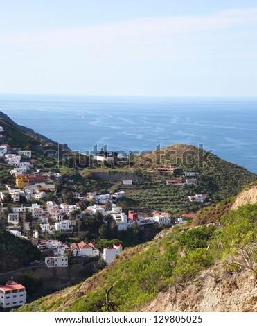Landscape near Santa Cruz de Tenerife, in the North of Tenerife island, Canary islands, Spain