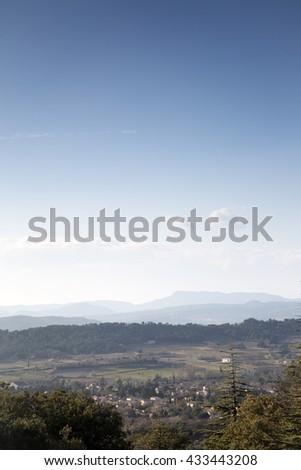 Landscape near Sualt Canyon, Provence, France, Europe Stok fotoğraf ©