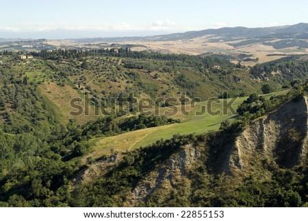 Landscape near Volterra (Pisa, Tuscany, Italy) at summer