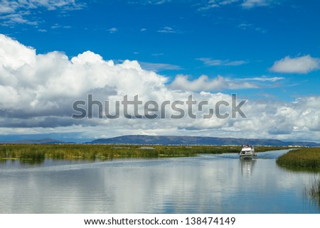Landscape of a lake and skyes
