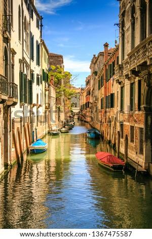 landscape of a. Venice canal #1367475587
