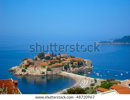landscape of an island St Stefan