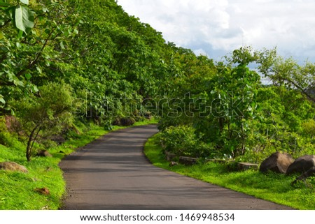 landscape of beautiful pathway. lonely pathway. #1469948534
