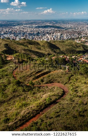 Landscape of Belo Horizonte during a sunny afternoon from the Serra do Curral. #1222627615