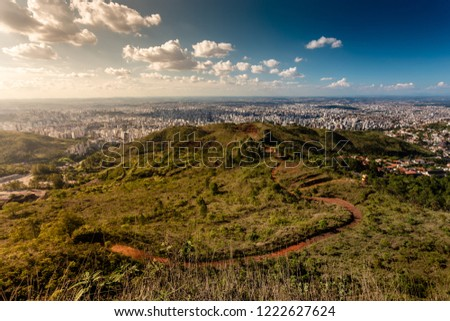 Landscape of Belo Horizonte during a sunny afternoon from the Serra do Curral. #1222627624