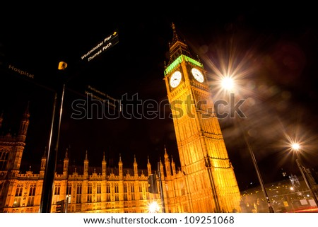 Landscape of Big Ben at Night