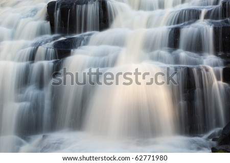 Landscape of Bond Falls, Michigan's Upper Peninsula, USA - stock photo