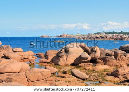 Shutterstock landscape of brittany: Perros-Guirec