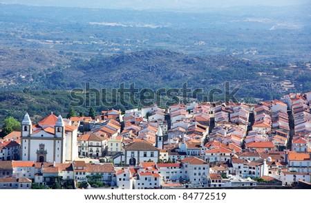 Landscape of Castelo de Vide village, north of Alentejo region