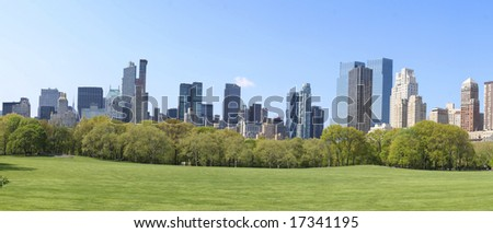 Landscape of Central Park - New York City