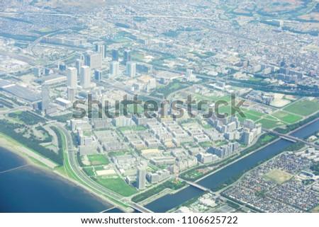 landscape of Chiba city inJapan