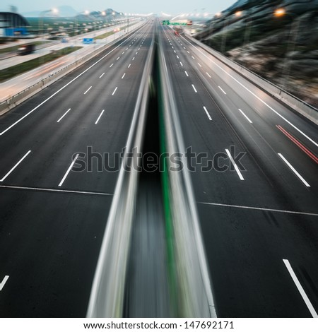 landscape of clean freeway at china.