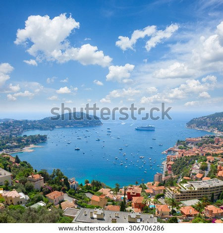 landscape of coast and turquiose water of cote dAzur, France #306706286