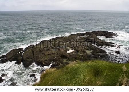 Landscape of Giant's Causeway Northern Ireland