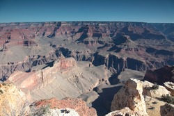 Landscape of Grand Canyon South Rim at Maricopa Point in Arizona USA