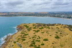 Landscape of Granite island near Victor Harbor in Australia
