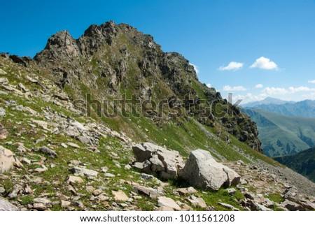 Landscape of Greater Caucausus mountain, Russia #1011561208