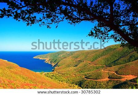 Landscape of Greece coast