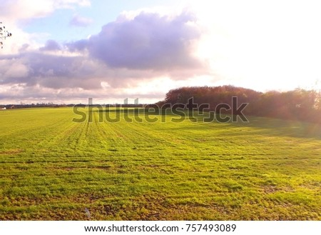 landscape of harvested field #757493089