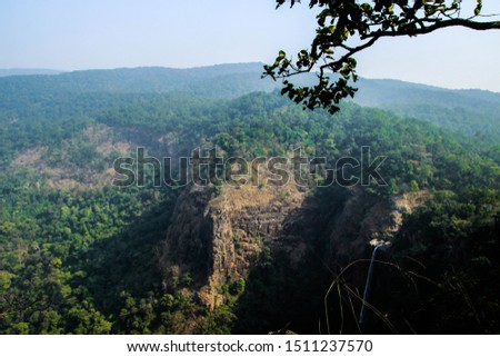 Landscape of hill stations, Waterfall from hills, nilgiri hills in odisha #1511237570