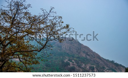 Landscape of hill stations, Waterfall from hills, nilgiri hills in odisha #1511237573