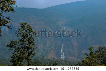 Landscape of hill stations, Waterfall from hills, nilgiri hills in odisha #1511237585