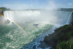 Landscape of Horseshoe falls on a great summer day