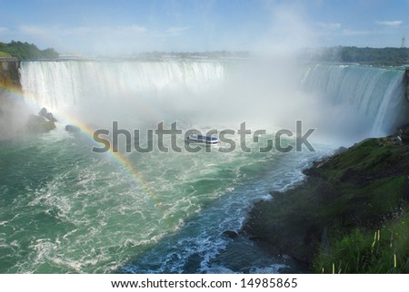 Landscape of Horseshoe falls on a great summer day #14985865