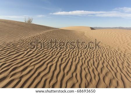 Landscape of Imperial Dunes, California - stock photo